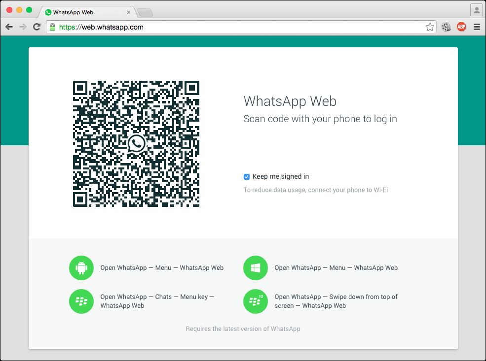 Resultado de imagen de whatsapp web mantener sesion iniciada