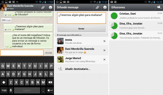 Difusión en WhatsApp