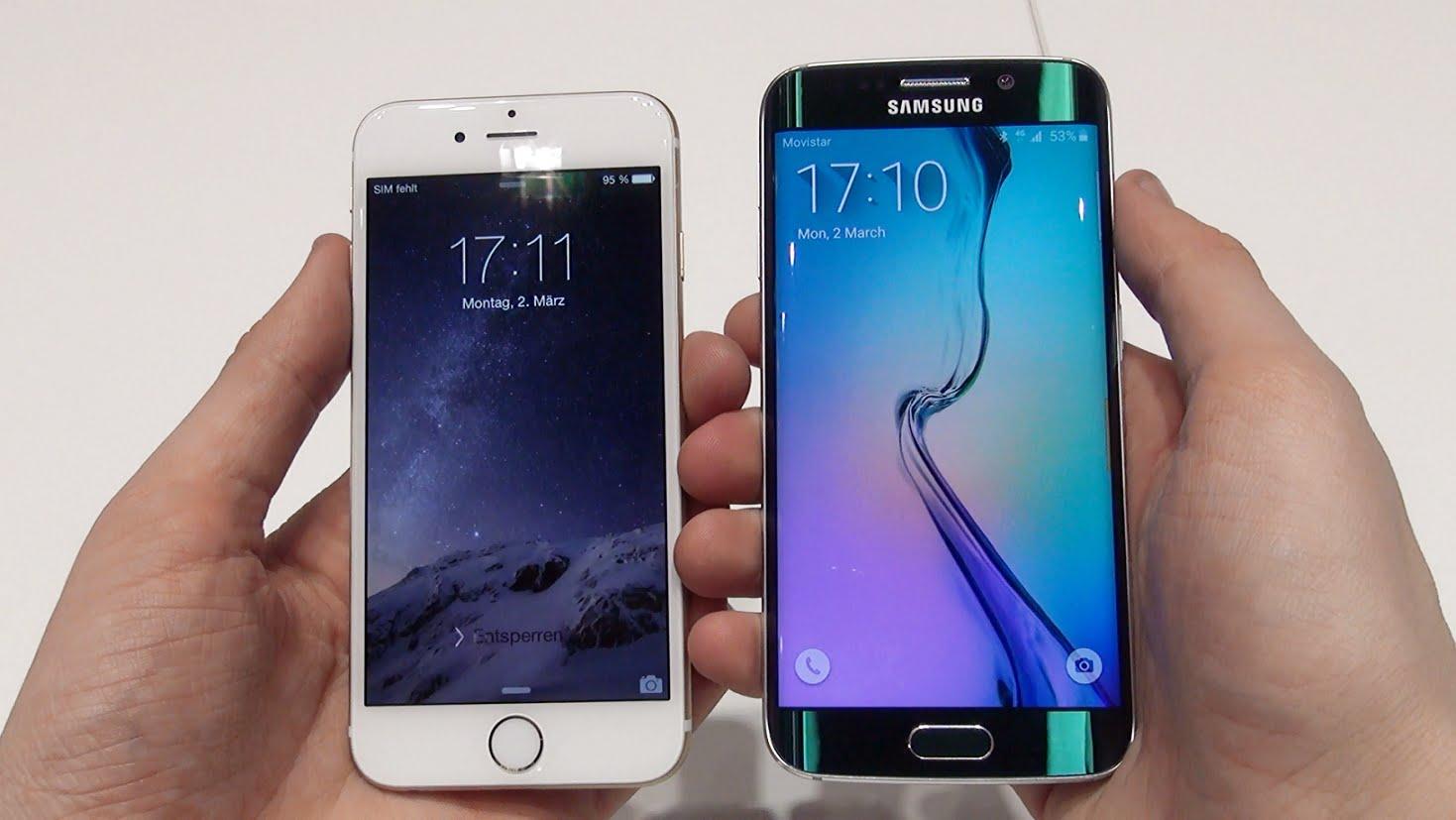 Samsung Galaxy s6 Edge + Vs iPhone 6s Plus