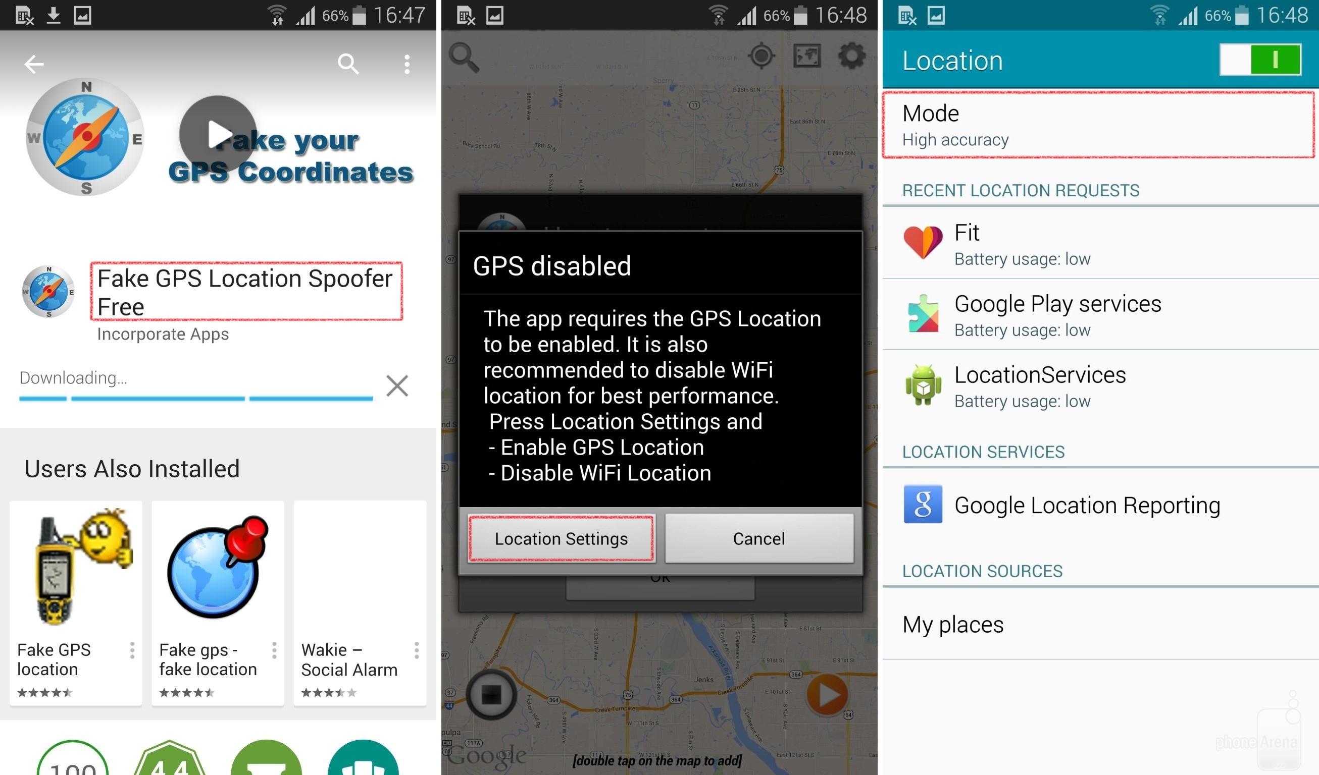 Ubicación falsa en WhatsApp Fake GPS