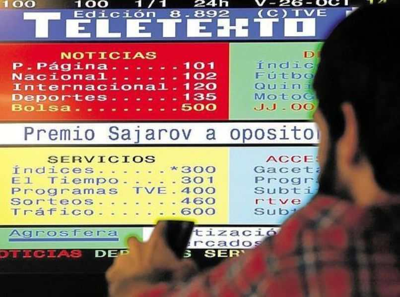 persona control remoto teletexto noticias premio sajarov servicios