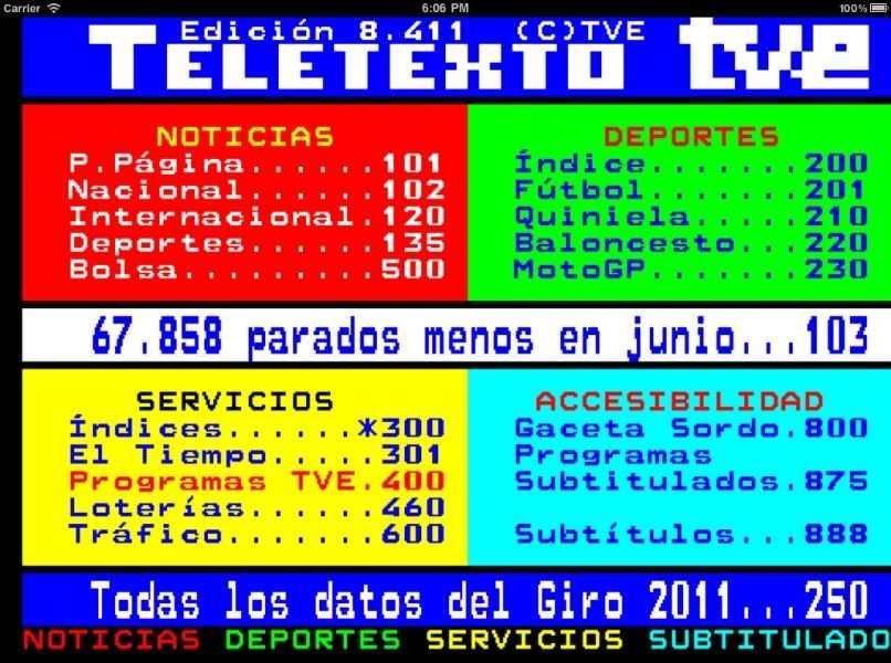 monitor tv teletexto tve noticias deporte servicios accesibilidad