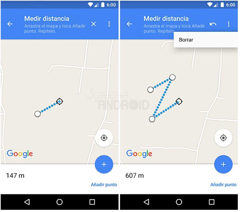 distancia google maps