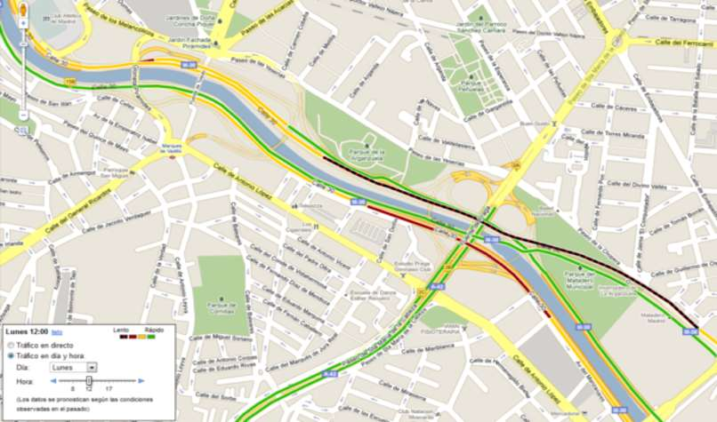 llegar destino google maps
