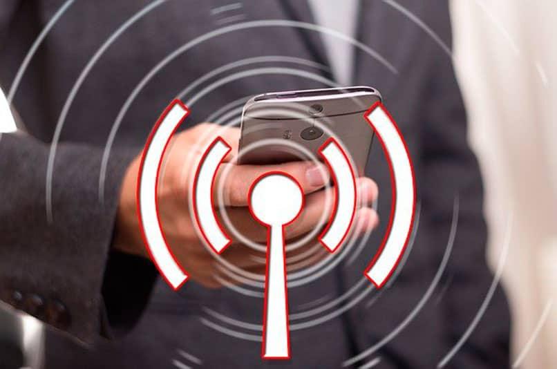 Smartphone con señal Wifi