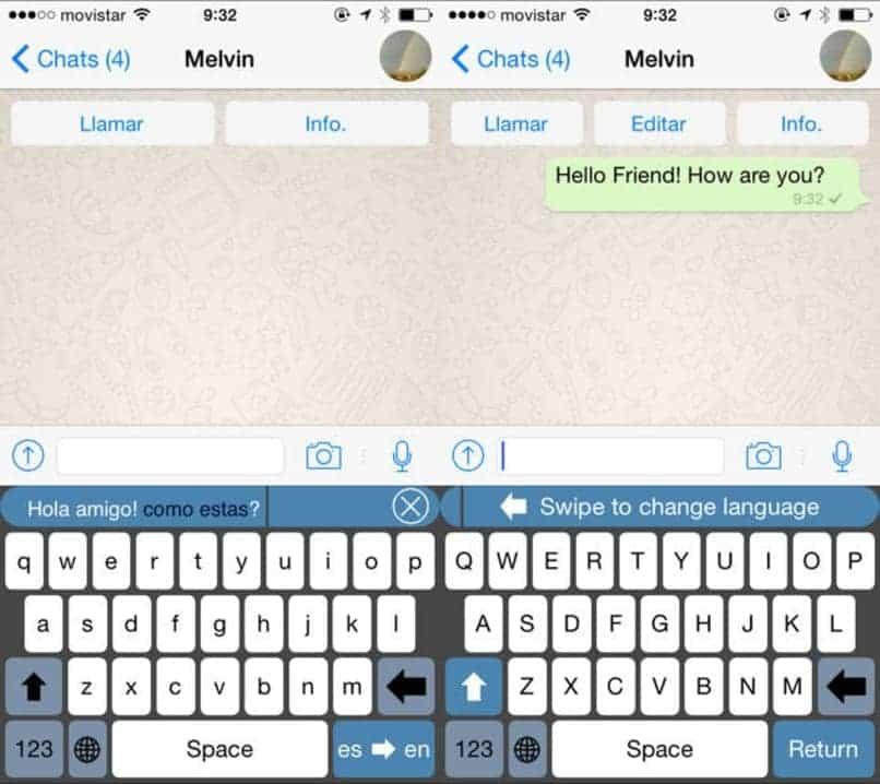 como traducir textos en whatsapp