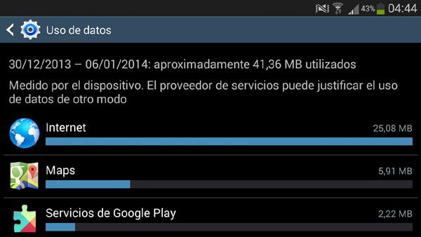 Consumir menos datos Android