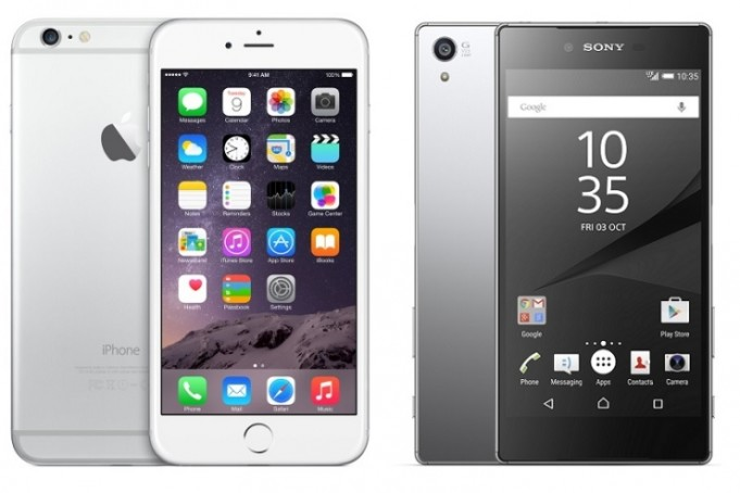 Sony Xperia Z5 vs iPhone 6S