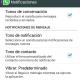 Cómo cambiar los tonos de WhatsApp