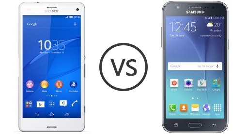 Samsung Galaxy J7 vs Sony Xperia Z3 3