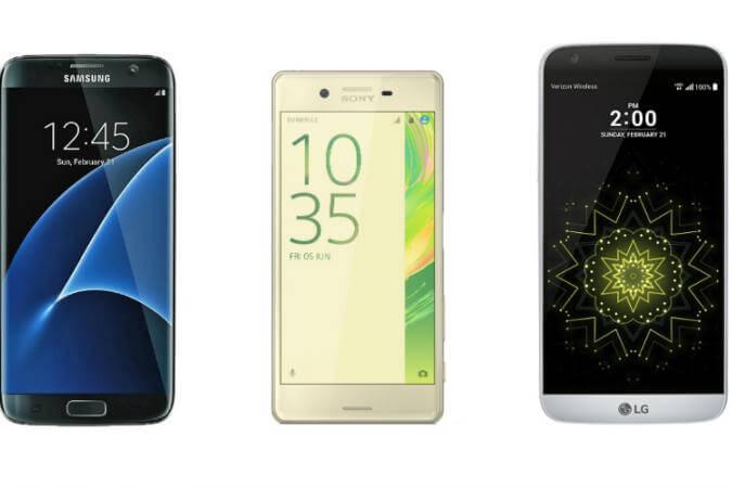 Samsung Galaxy S7 vs LG G5 vs Xperia X Performance vs iPhone 6s