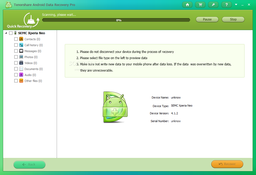 Tenorshare Android Data Recovery Pro 1