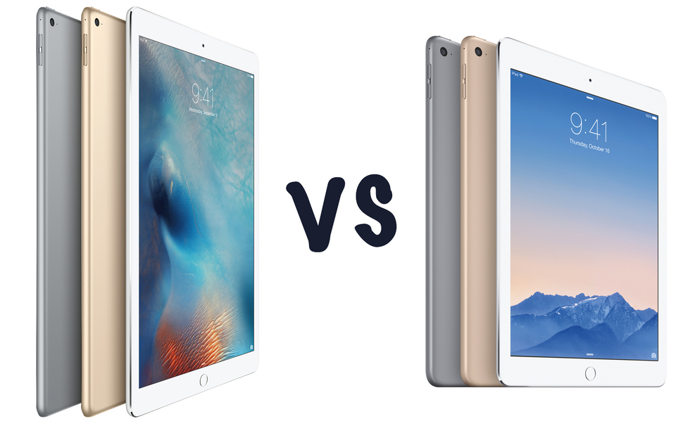 apple ipad air 2 vs apple ipad pro 9 7 cu l es mejor rwwes. Black Bedroom Furniture Sets. Home Design Ideas