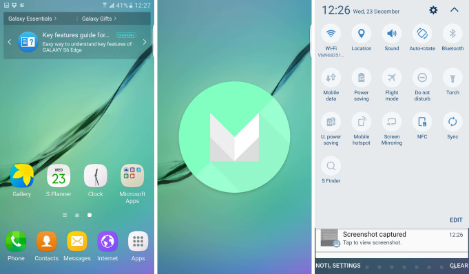 Samsung Galaxy Note 5, S6 y S6 Edge Android 6.0 Marshmallow