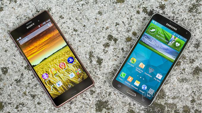 Sony Xperia Z3 vs Samsung Galaxy S5 1