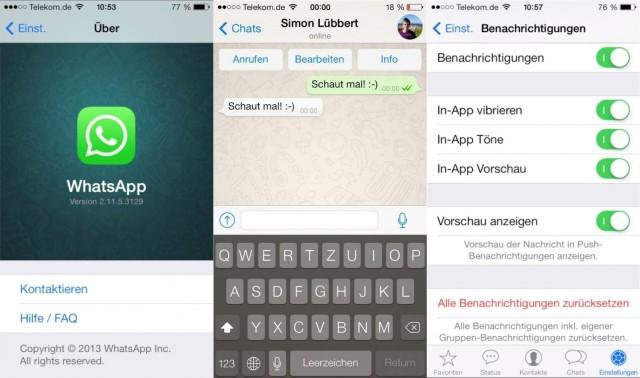 WhatsApp iOS videollamadaa