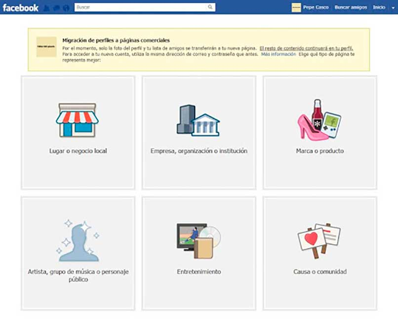 Crear página de Facebook para empresa