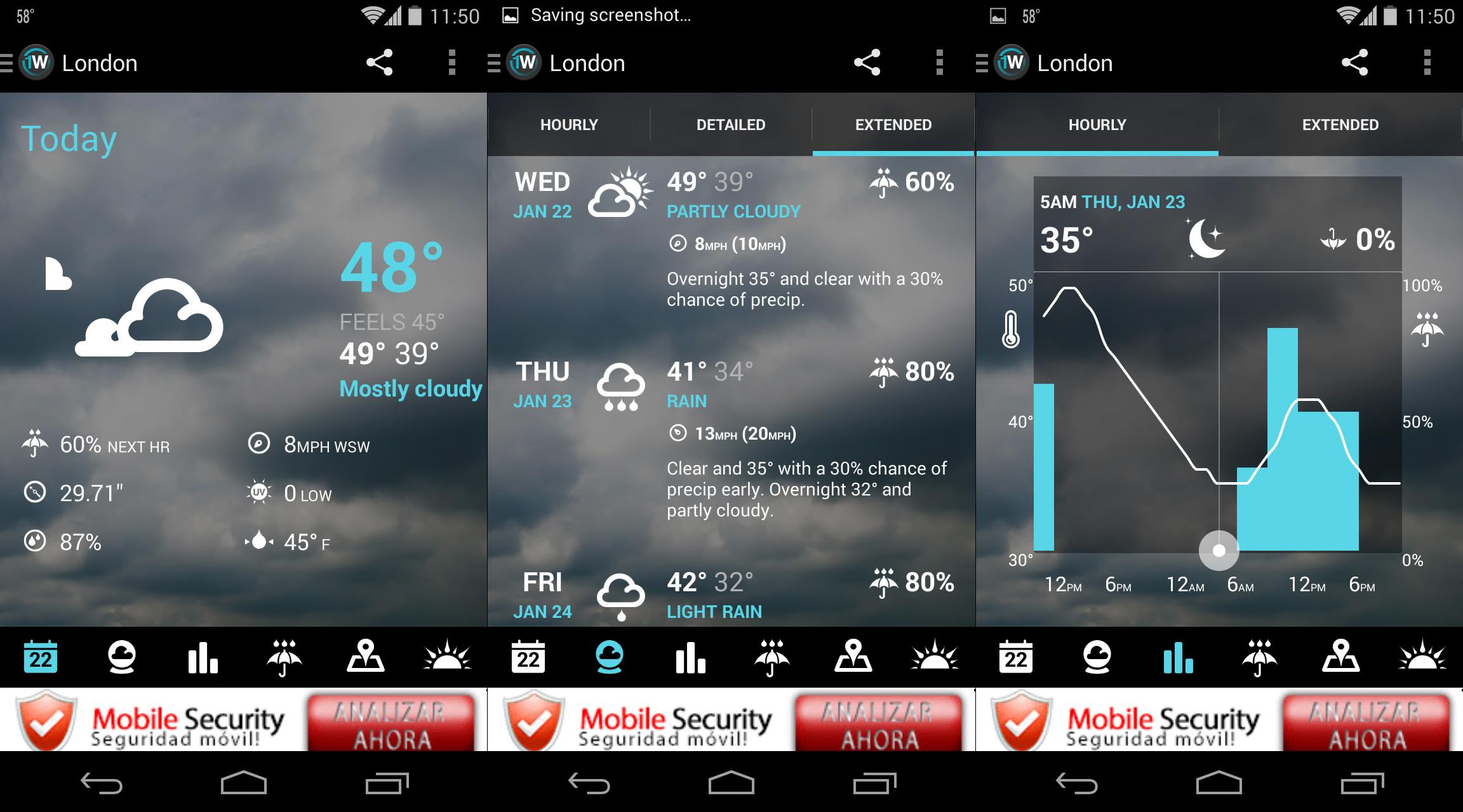 Aplicaciones tiempo clima Android 3