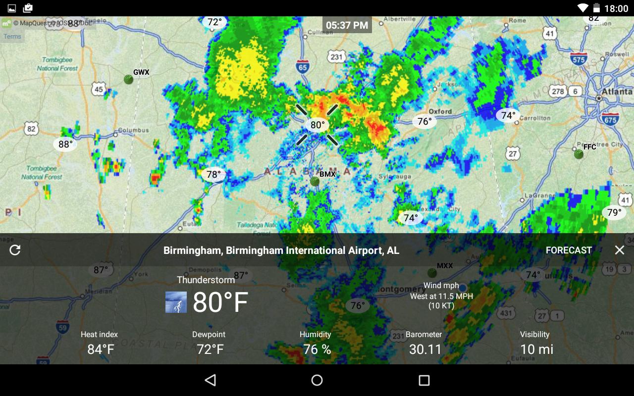 Aplicaciones tiempo clima Android 5