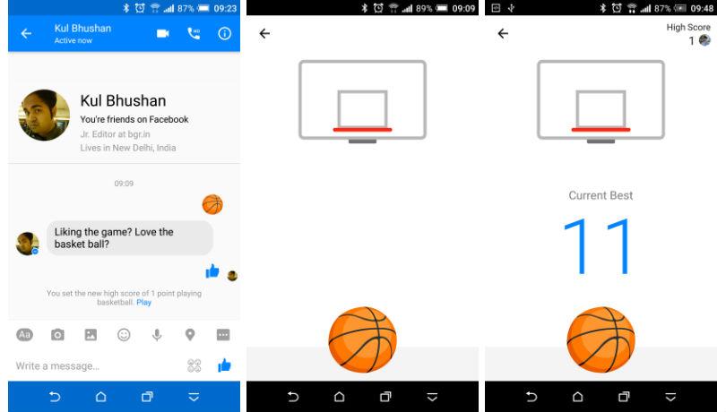 Facebook Messenger baloncesto 1