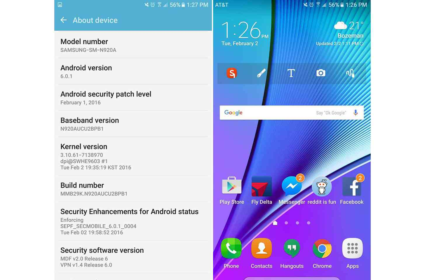 Galaxy Note 5 Android 6.0.1 Marshmallow 3