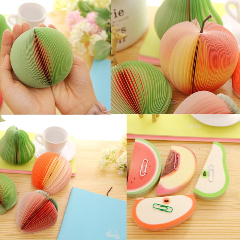 Notas con forma de frutas