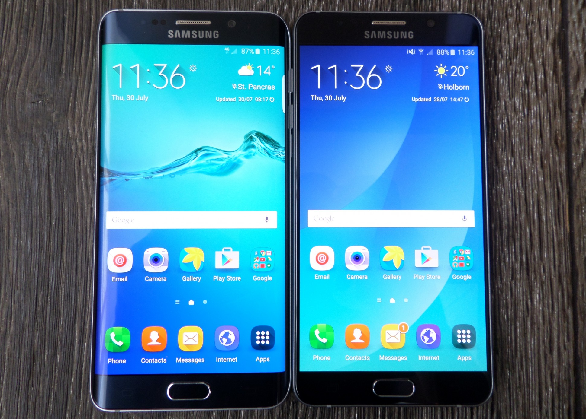 Samsung Galaxy S7 vs Galaxy Note 5 2