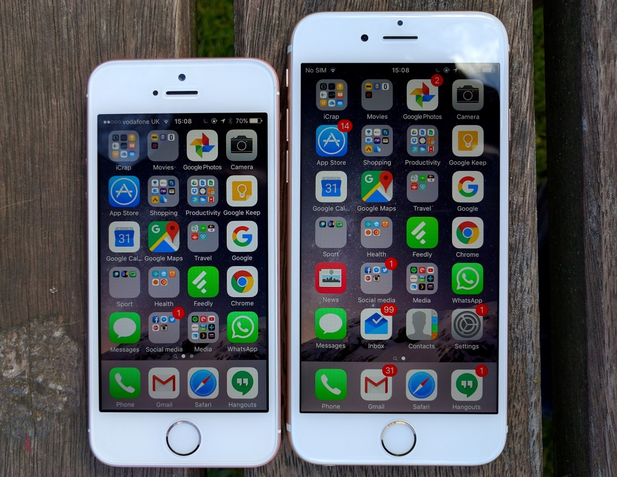 iPhone SE vs iPhone 6S 2