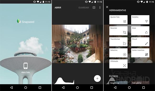 Aplicaciones editar fotos Android 1