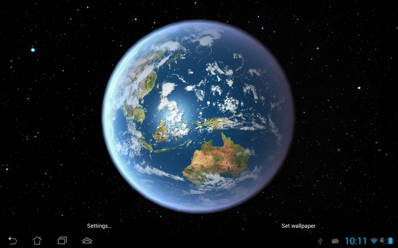 Fondos de pantalla animados para Android tierra hd