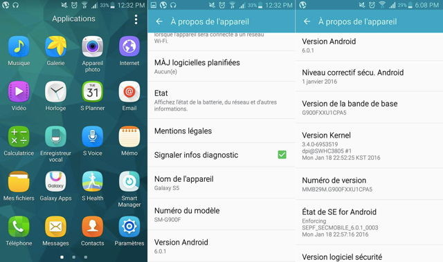 Galaxy S5 Android 6.0.1 Marshmallow 2