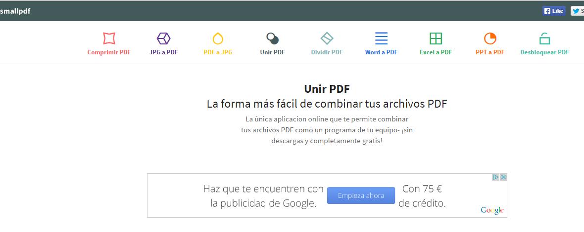 Unir PDFs 2