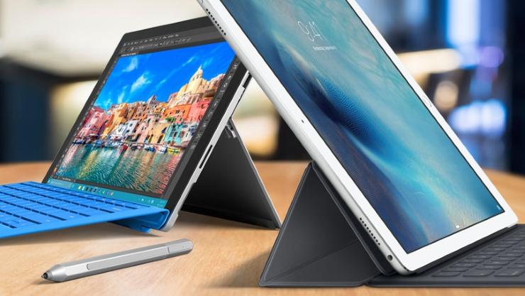 iPad Pro vs Microsoft Surface Pro 4 1