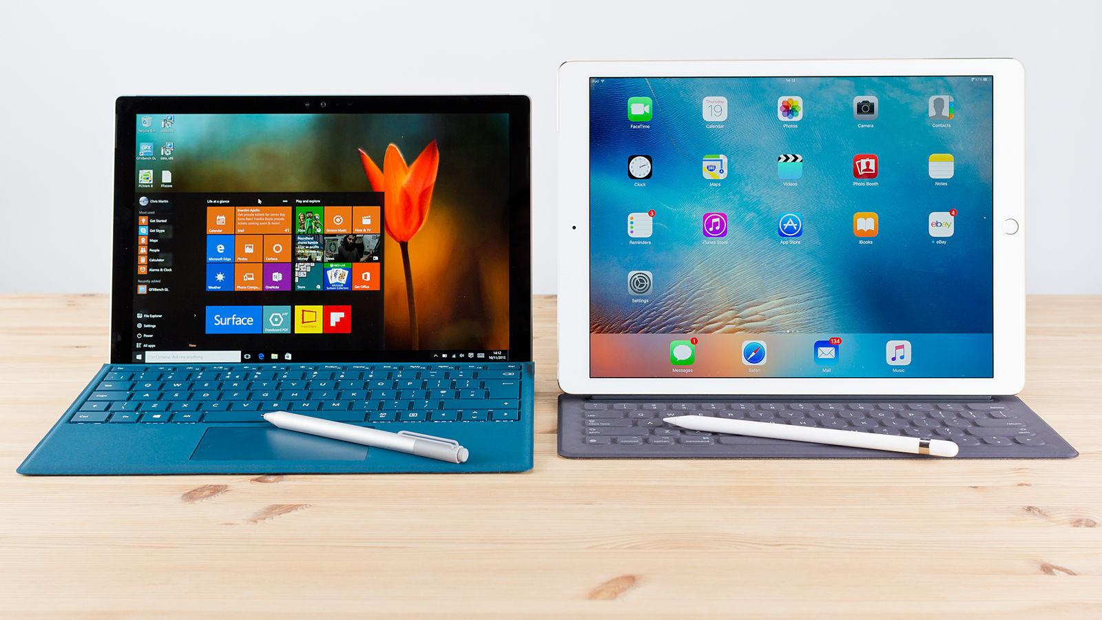 iPad Pro vs Microsoft Surface Pro 4 2