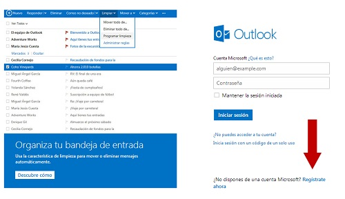 Abrir cuenta correo Outlook