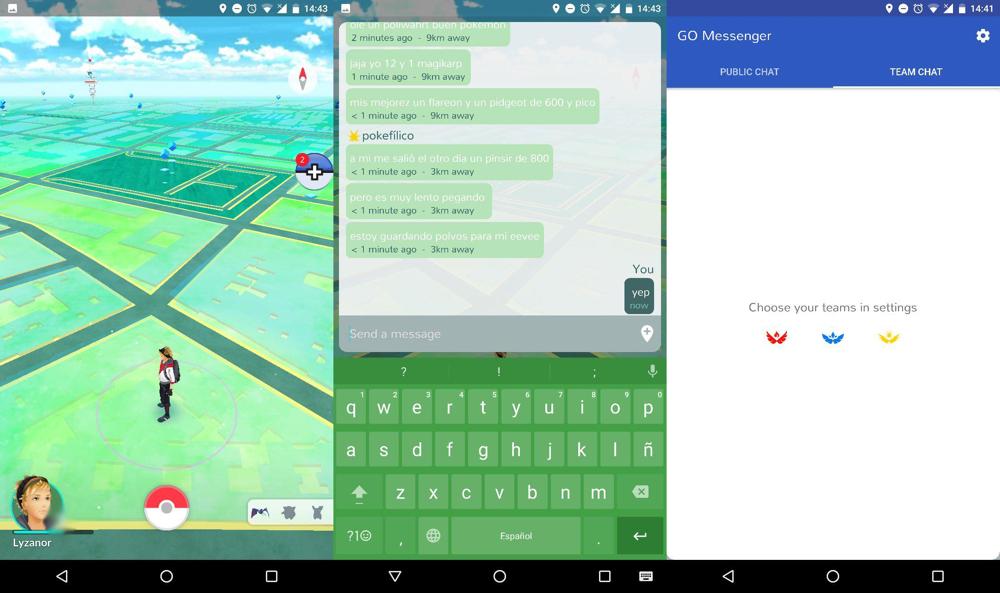 Chatear en Pokémon Go sin salir del juego