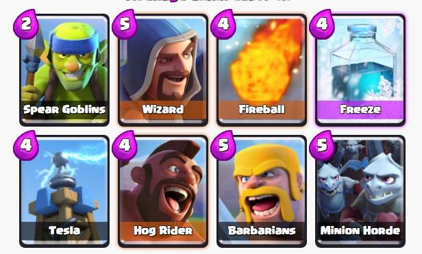 Clash Royale mejor mazo arena 7
