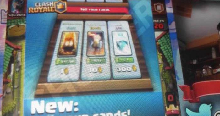 Clash Royale vender tarjetas y comprar gemas con oro