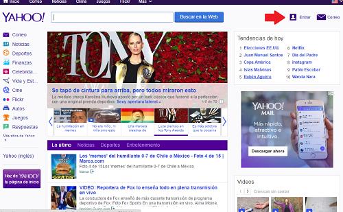 Crear cuenta Yahoo 1