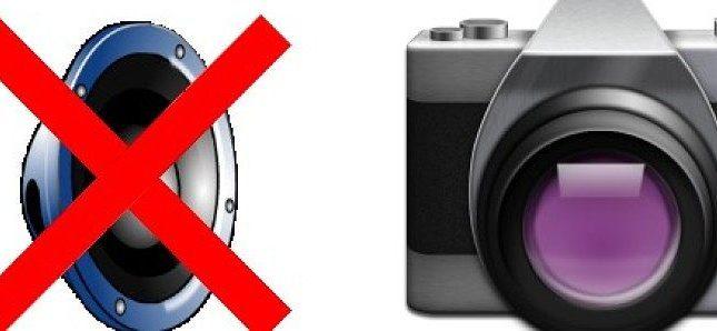Desactivar sonido cámara Android