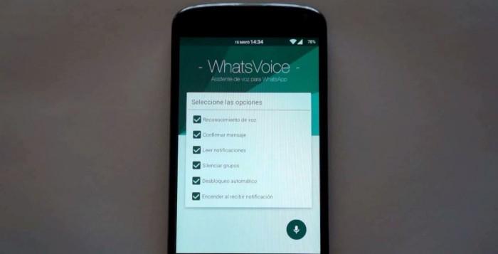 Escribir por voz WhatsApp