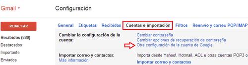 Gmail eliminar cuenta 2