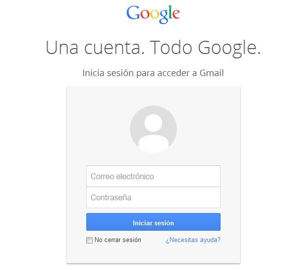 Gmail iniciar sesión en correo de Google
