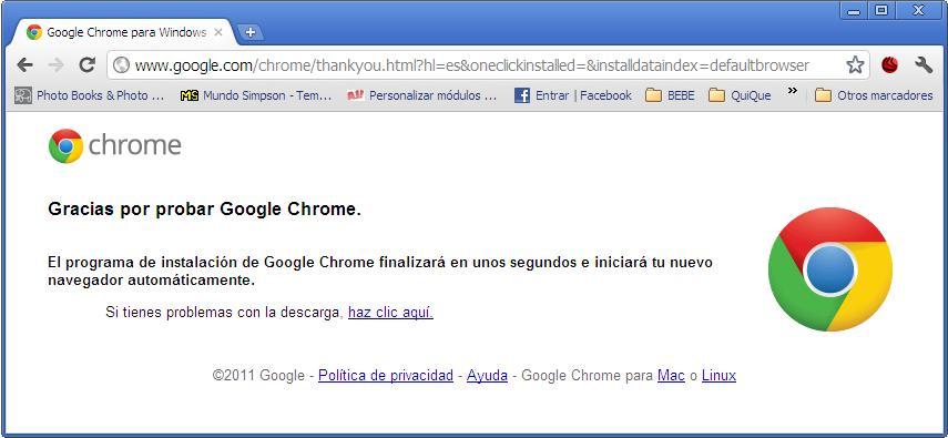 Google Chrome instalar