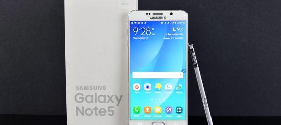 Hacer captura de pantalla en Samsung Note 5