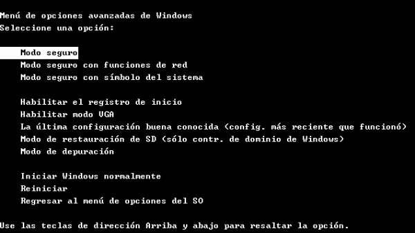 Iniciar Windows en modo seguro