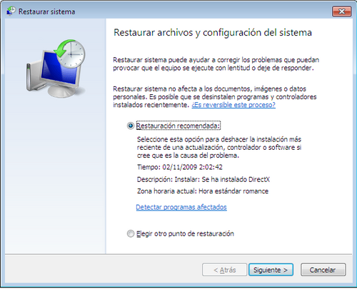 Reiniciar Windows 7