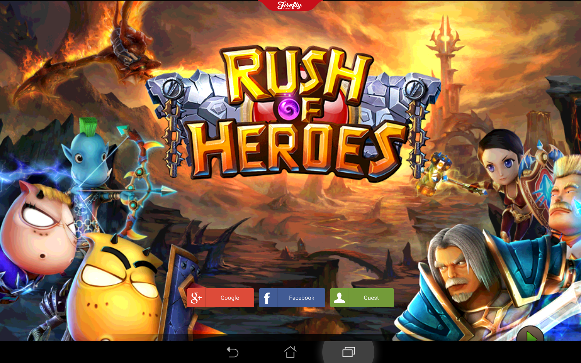Rush of Heroes para móvil