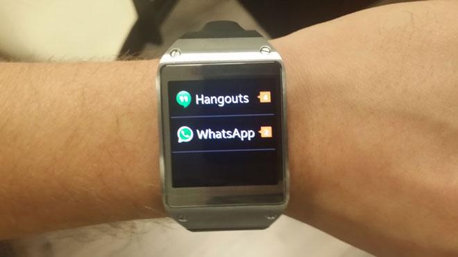 Samsung Galaxy Gear WhatsApp