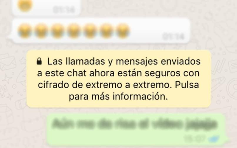 whatsapp cifrado de extremo a extremo en mensajes